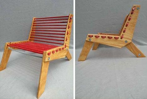 diy recycled garden hose chair