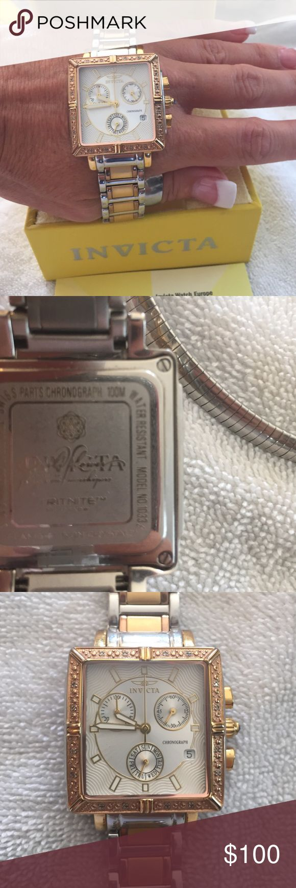 WOMENS INVICTAwatch. New. OBO Beautiful gold& stainless steel watch. Worn once. I have Too many watches. Perfect  Invicta Jewelry  www.womenswatchhouse.com