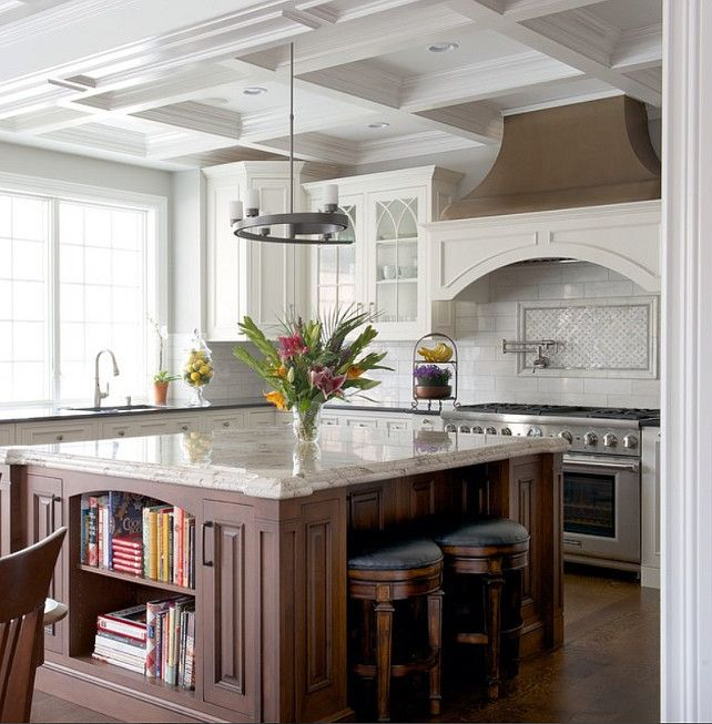 Kitchen cabinet and island layout Ideas