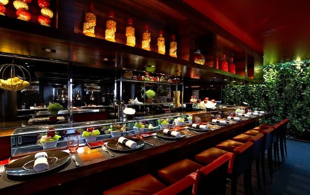 L'Atelier De Joel Robuchon -  The London outpost of this sublime and stylish modern French restaurant is set over three floors in Soho. To best experience the rich textures and flavours of Xavier Boyer's cooking, sit at counter on the ground floor (pictured below) and opt for the tasting menu.