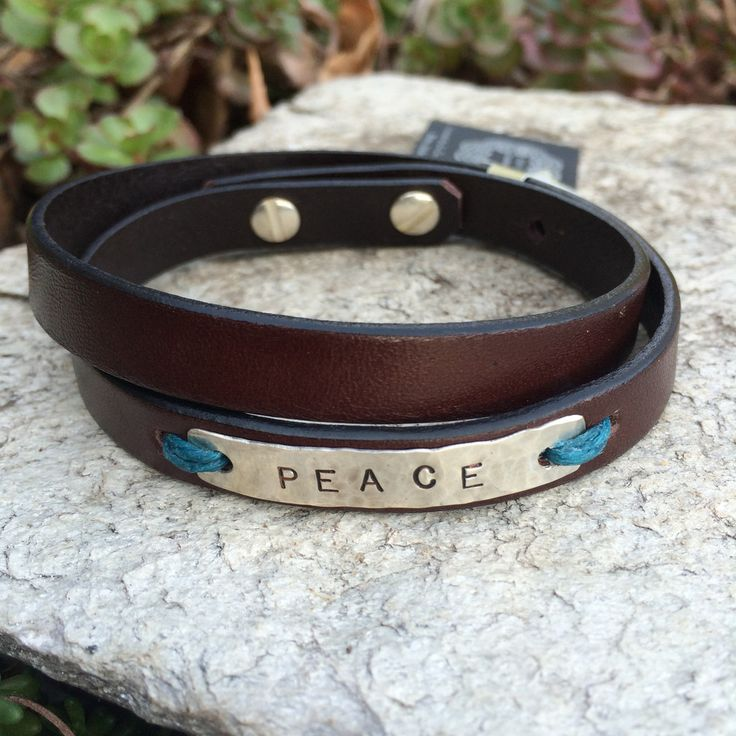 Leather Sentiments Bracelets
