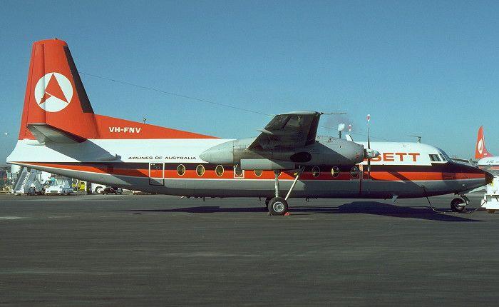 Ansett Airlines VH-FNV Fokker F.27 Friendship