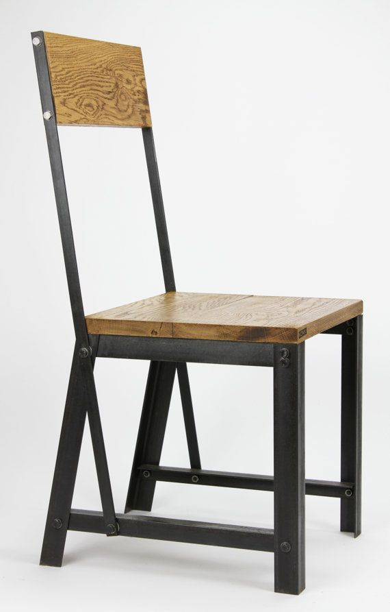 KONK INDUSTRIAL Style Dining Chair Seat Chic reclaimed