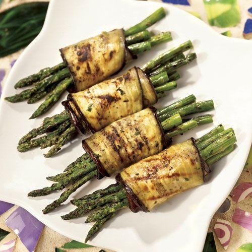 Grilled Asparagus and Eggplant Roll-Ups - Wegmans