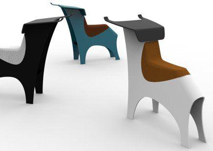 Lande toro werkplek praatstoel en opvallend object objectform kantoorinrichting - Object design eigentijds ontwerp ...
