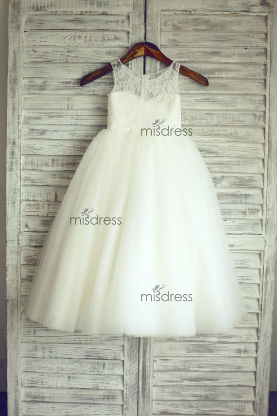 TUTU Lace Tulle Flower Girl Dress Wedding Easter by misdress