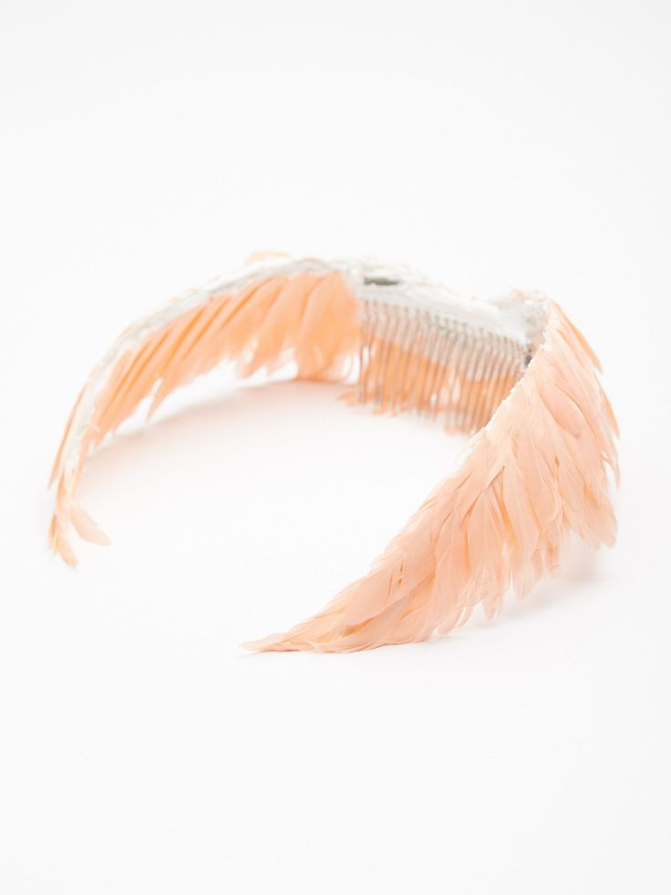 Athena Feather Halo | Super luxe and ethereal feather halo that immediately turns you into a goddess. Plastic comb for an easy and secure fit. American made.