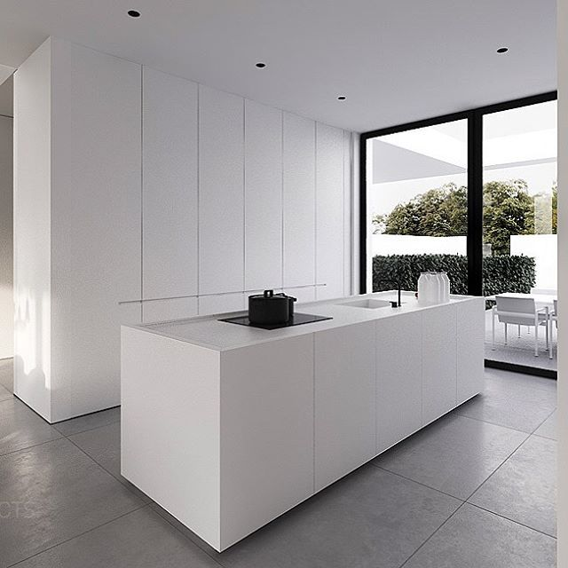 Sleek white kitchen to finish off our Christmas Eve. I envisage a beautiful oak dining table with matte black dining chairs next to this kitchen.😱 Night night design dreamers. I hope Santa is on his way to your house. Wishing you all the most wonderful and merry Christmas.🎄😘 design by #tamizoarchitects #modernkitchen #kitcheninspo #moderndesign