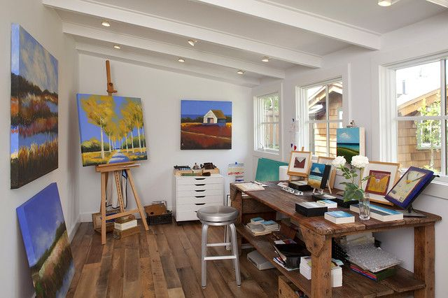Art studio design ideas for small spaces modern little for House plans with craft room