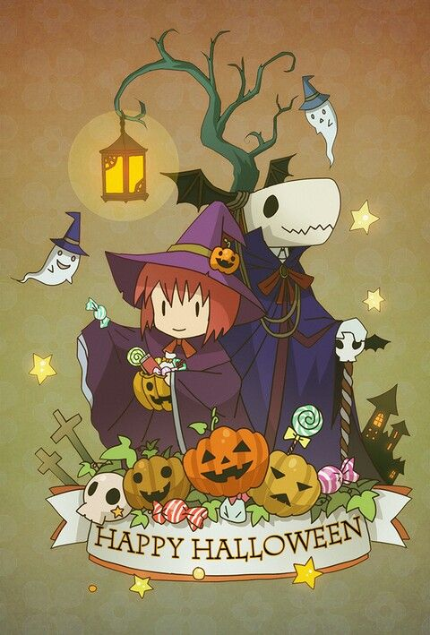 Chisé & Élias. Happy Halloween !! ><