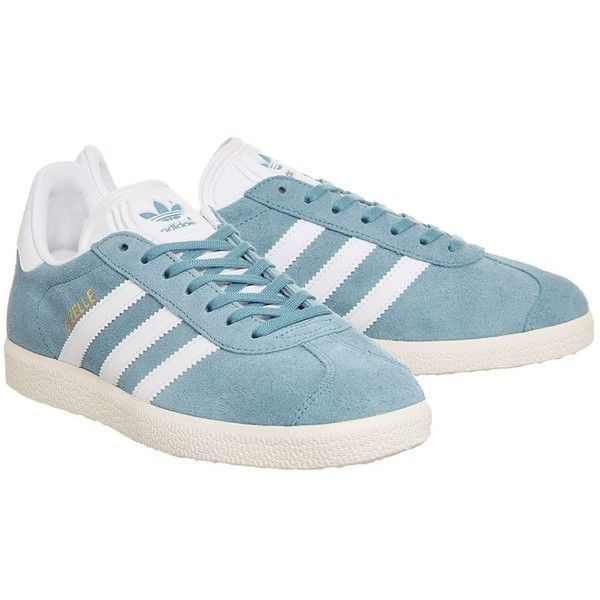 Gazelle Trainers by Adidas Supplied by Office (5.935 RUB) ❤ liked on Polyvore featuring shoes, sneakers, blue, adidas trainers, adidas shoes, adidas, adidas footwear and adidas sneakers