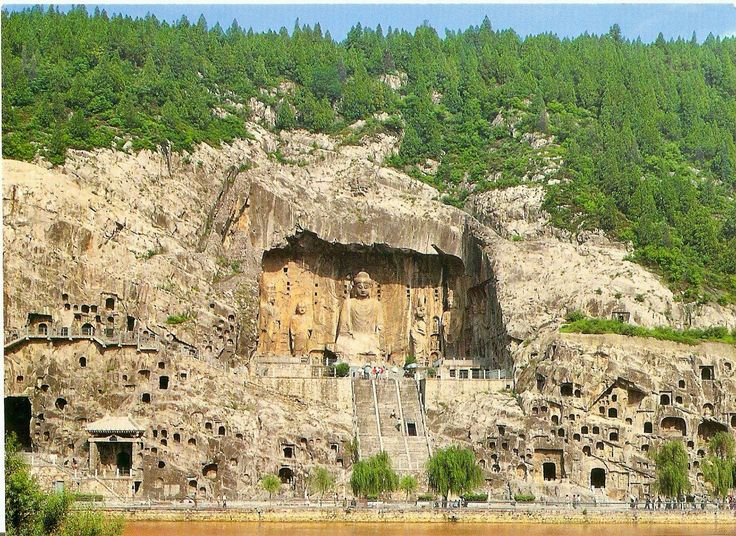 Longmen caves. Luoyang, China. Tang Dynasty. 493–1127 C.E ...