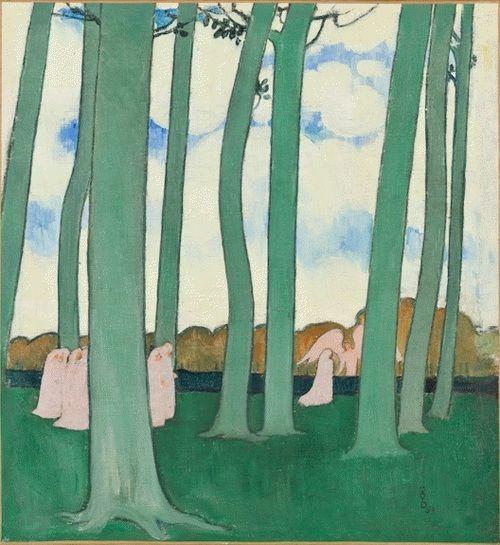 Maurice Denis  Paysages aux arbres verts  1893