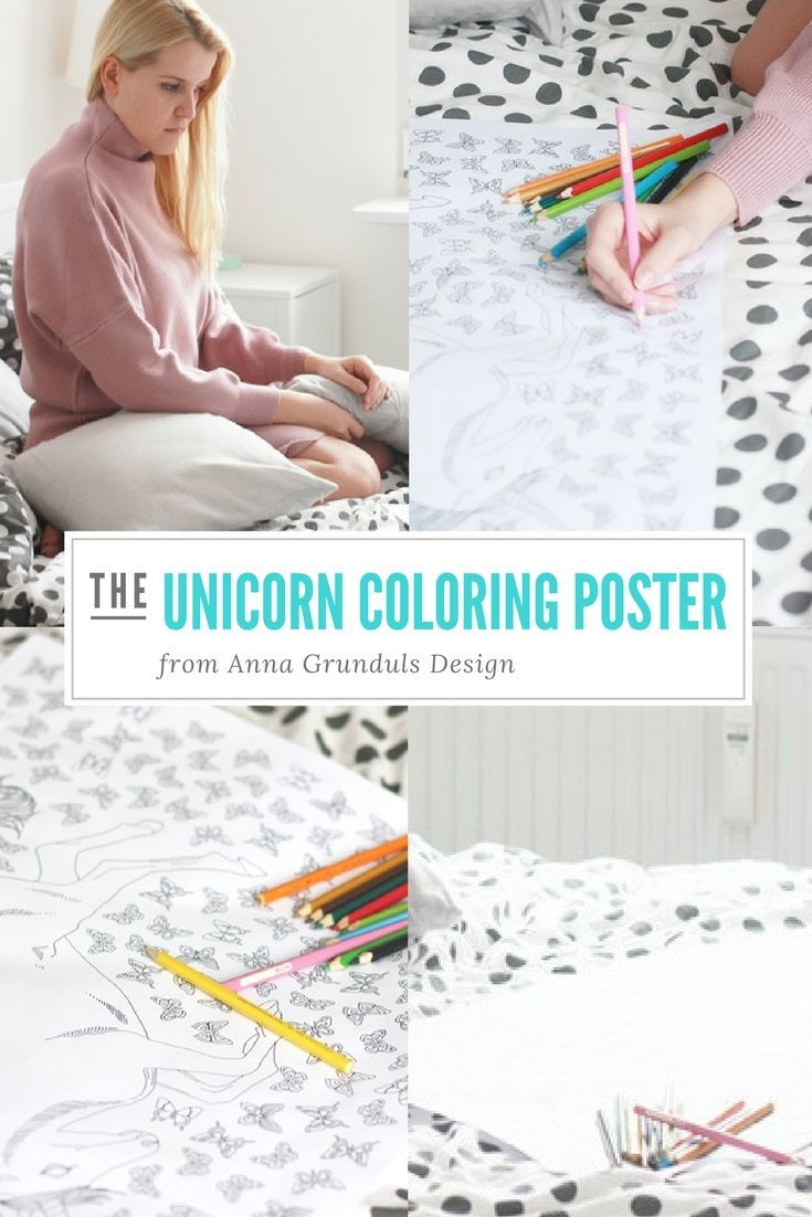 These pictures of the unicorn coloring poster are just like a dream! Paulina's article really makes me want one :) Imagine coloring all the butterflies! Sounds like fun, doesn't it?