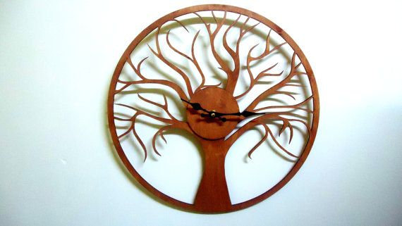 - Diameter 40cm ( 15.74 Inch) - Material: wood 3mm - AA battery, not included - painted with walnut paint.