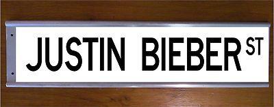 JUSTIN BIEBER STREET ROAD BAR SIGN - MUSIC TEENAGER COOL GIFT BEDROOM