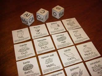 Make Five Game to Learn about Mineral Chemical Formulas