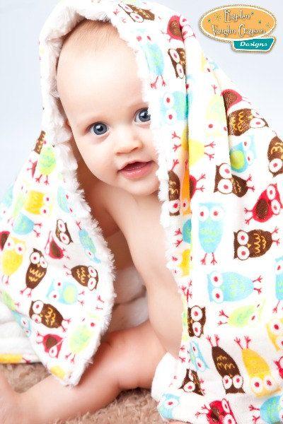 Plush Baby Hooty Owls Blanket Lovey by PartyPlanItDesigns on Etsy, $25.00