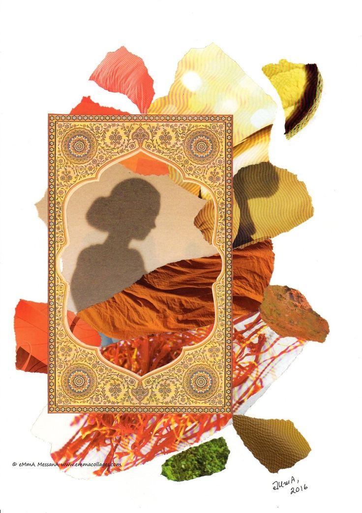 15 août 2016, je souhaite une b onne fête aux Marie (j'en connais quelques unes qui se reconnaîtront, pseudo ou pas, prolixe ou muettes) ! Mon collage du jour est un clin d'oeil à l'Inde dont on célèbre aujourd'hui l' anniversaire de leur indépendance...