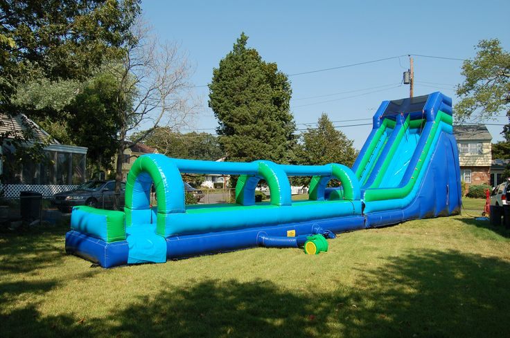23' Inflatable Water Slide www.flosinflatables.com
