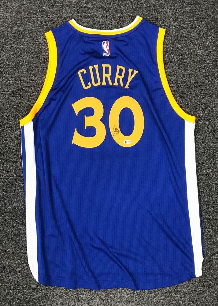 325104738 Stephen Curry  30 Signed Warriors Jersey Autographed Sz XL Beckett BAS COA  AUTO