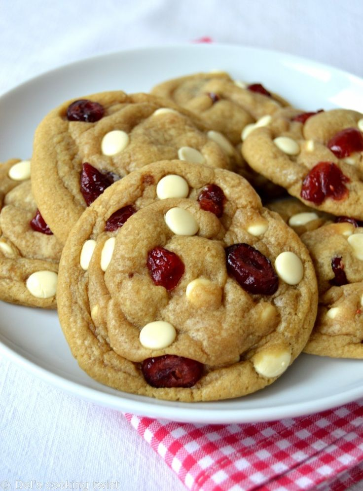 White-chocolate-cranberry-cookies shared at Katherines Corner