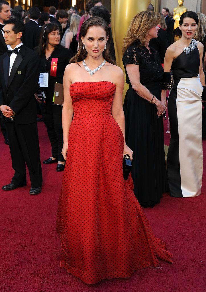 Natalie Portman in Polka-Dot Christian Dior Gown at the 2012 Oscars