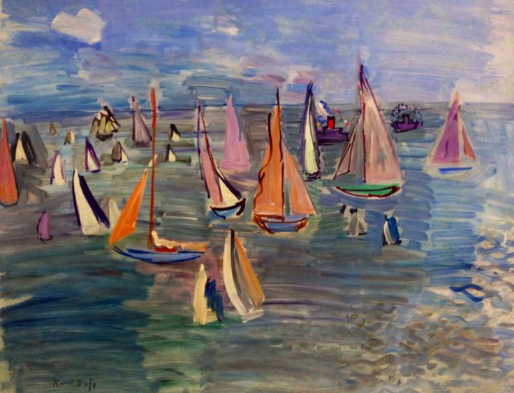 dionyssos: Raoul Dufy. 1877 - 1953 , Regates , 1935