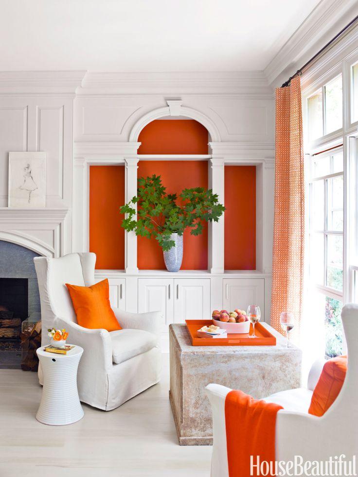 In the living room of a atlanta georgia house orange for Living room sets atlanta ga