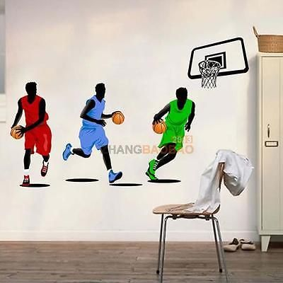 Play Basketball Decor Removable Wall Sticker Sport Child Room Art Decal  Ornament