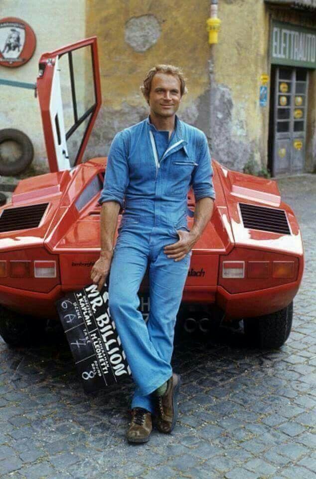 Terence Hill With Lamborghini Auto Appreciation Pinterest Lamborghini Movie And Films