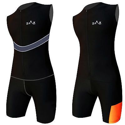 Mens #triathlon suit / tri suit #padded swimming #cycling running yoga skin suit…