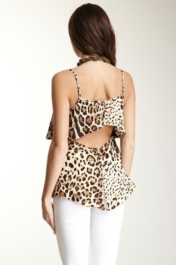 Open Back Animal Print Cami