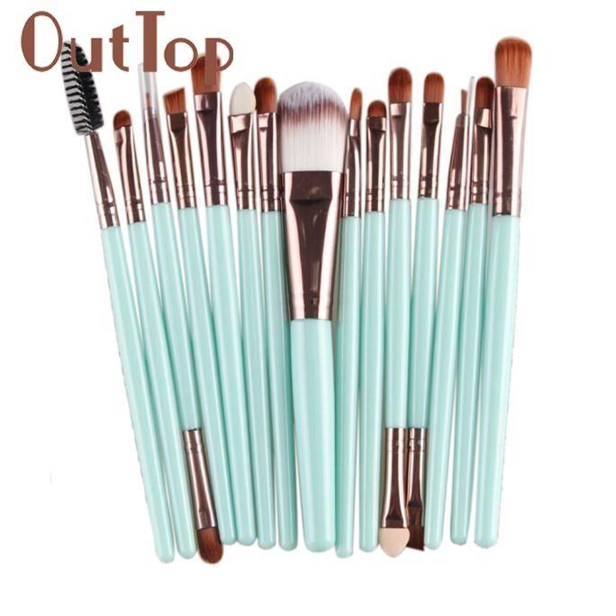 2.66$  Know more - 15 pcs Makeup Brush Set tools Make-up Toiletry Kit Wool Make Up Brush Set   Beautiful New fashion design Hot Pretty New Dec1   #magazine