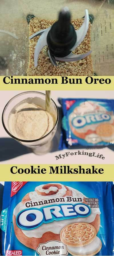 Cinnamon Bun Oreo Cookie Milkshake - My Forking Life