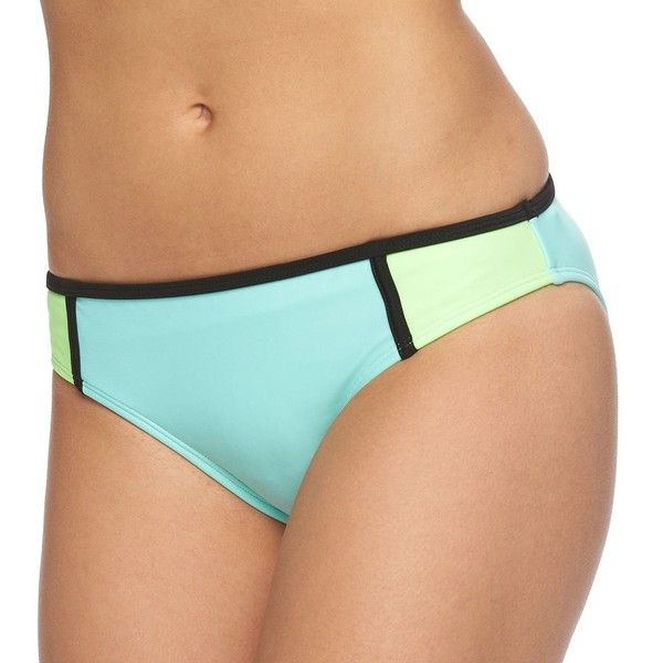 Juniors' In Mocean Colorblock Bikini Bottoms, Women's, Size: X LARGE,... ($22) ❤ liked on Polyvore featuring swimwear, bikinis, bikini bottoms, cloud mint, color block swimwear, hipster bikini, mint green bikini, mint bikini and hipster swimwear