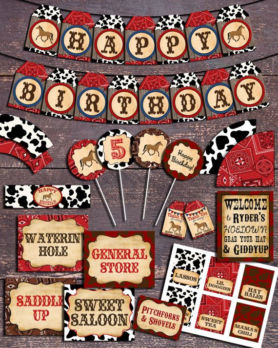 Western Theme Party Printable Western Party by BloomberryDesigns