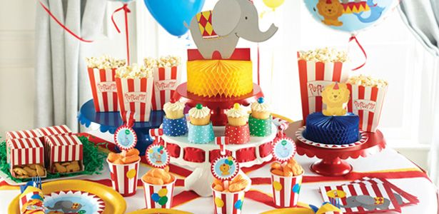 Addobbi festa compleanno Animali del circo per bambini