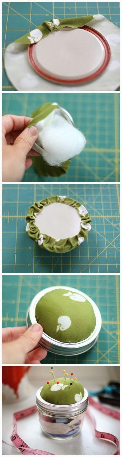 DIY: Mason Jar Sewing Kit - This would make a great gift!