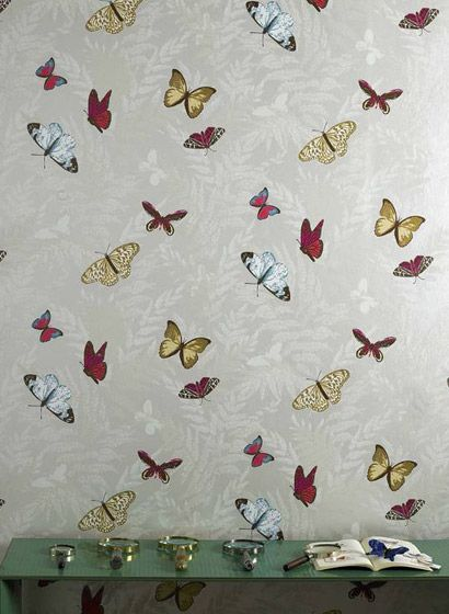 Schmetterlinge: Tapete Farfalla - Designtapete von Osborne and Little #retro #britisch