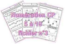 IPOTÂME ....TÂME: CP numération : fiches exercices nombres 1 à 19