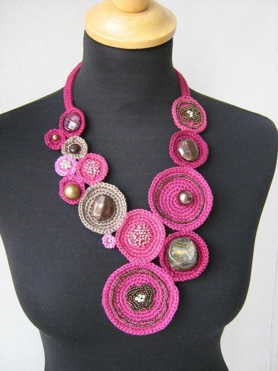 CROCHET NECKLACE  ORIENT by Suzann61 on Etsy