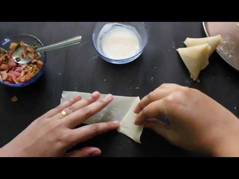 How to make an authentic South African Indian Samosa (Samoosa), fried or baked, with meat or vegetable filling and flour or Filo pastry shells.