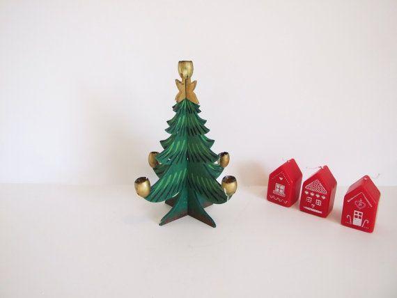 Sueco vintage portavelas en forma de árbol por tiendanordica