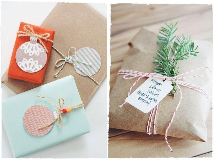 Идеи новогодней упаковки подарков.