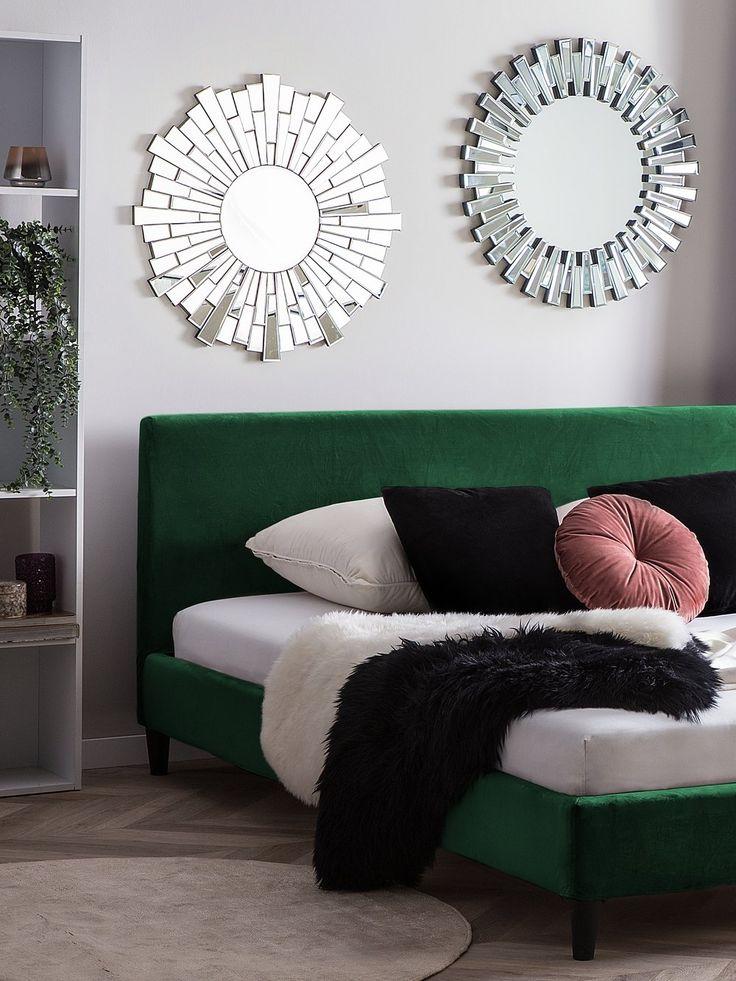 Velvet EU Super King Size Bed Emerald Green FITOU Velvet
