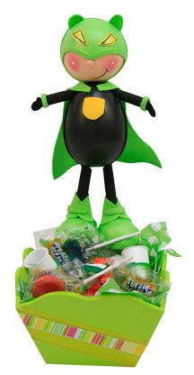 Dulcero para fiestas infantiles color verde. Termofotmado / Fomy / Fomis / Foamy