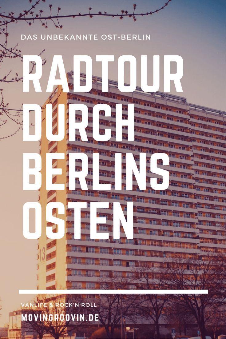 Radtour von Berlin Friedrichshain, zum Weißen See, nach Hohenschönhausen und Marzahn, zurück über Lichtenberg. DDR-Architektur, breite Straßen...