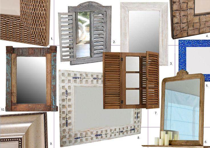 Zrcadla do venkovských interiérů