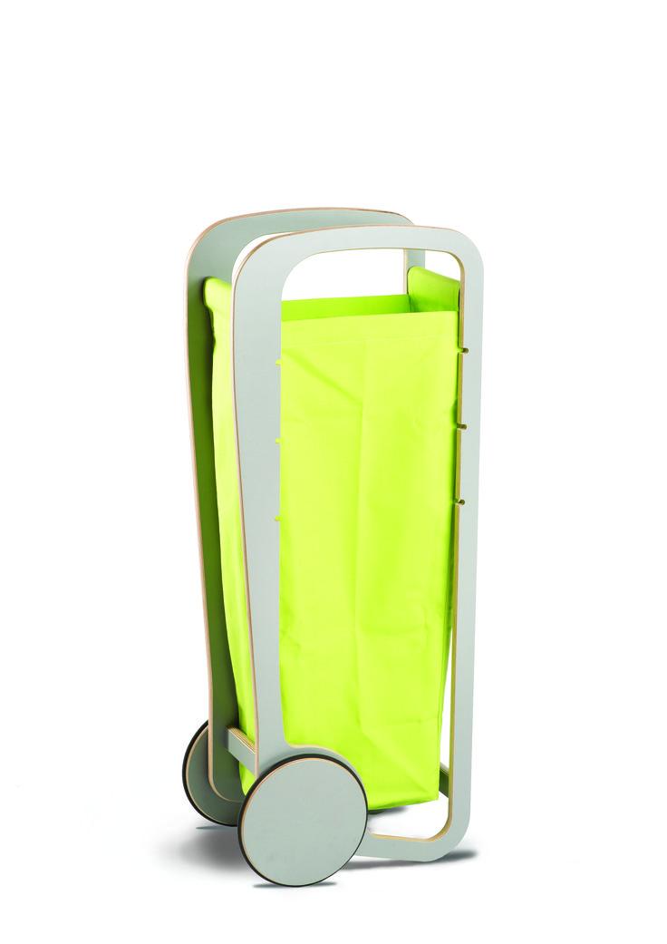 Fleimio Trolley Bag (lime) in a grey Fleimio Trolley.